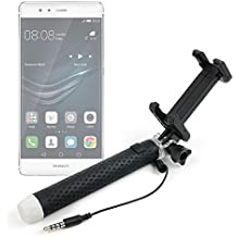Exclusivo Palo Selfie (Selfie-Stick) DURAGADGET extensible para Smartphones Huawei Mate 8 / GX8 / P9 plus / P9 / P9 Lite / Honor V8
