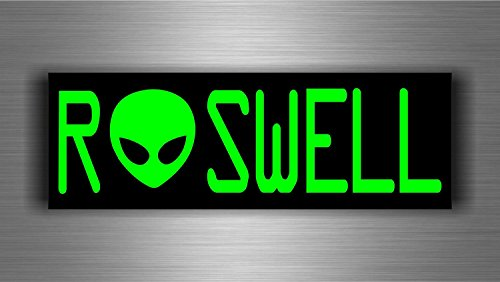 Aufkleber, Sticker, für Auto, Motorrad, MacBook, Motiv Alien, UFO, Roswell