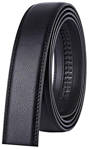 Xhtang Gürtel Herren Automatik Gürtel mit Automatikschließe-3,5cm Breite (Länge 125cm Geeignet für 37-43 taille, Schwarz Gurt (Keine Schnalle)) -