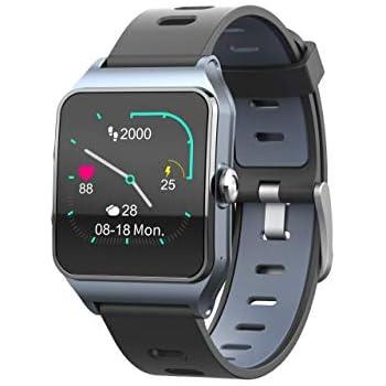 Funker T9 Track Master Gris Smartwatch para Hombre o Mujer Impermeable IP68 Pantalla Táctil Pulsera de Actividad Bluetooth con GPS y Monitor de Ritmo ...