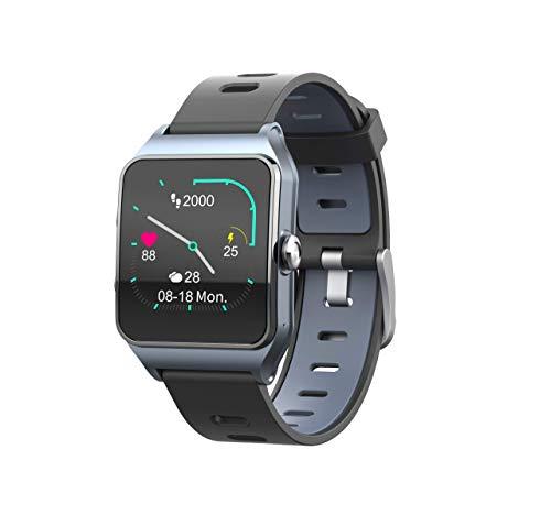Oferta de Funker T9 Track Master Gris Smartwatch para Hombre o Mujer Impermeable IP68 Pantalla Táctil Pulsera de Actividad Bluetooth con GPS y Monitor de Ritmo Cardíaco para iOS Android
