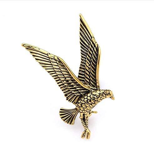 X-Z Emaille Adler Vogel Brosche Pins für Frauen und Männer Vintage Gold Farbe Hawk Tier Broschen Bankett (Hawk Brosche)