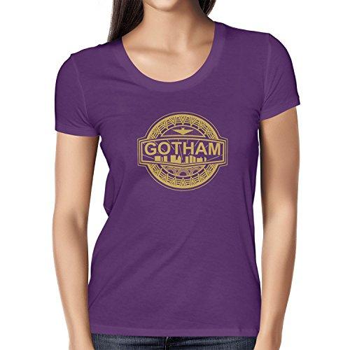 TEXLAB - Gotham Logo - Damen T-Shirt, Größe L, (Up Kostüm Für Make Joker Frauen)