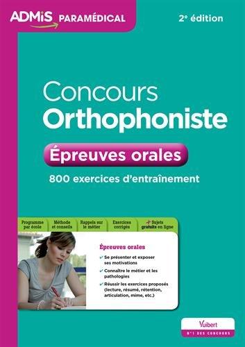 Concours orthophoniste : Epreuves orales