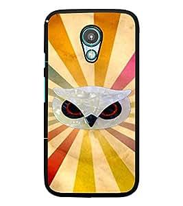PrintDhaba Owl Face D-3953 Back Case Cover for MOTOROLA MOTO G2 (Multi-Coloured)