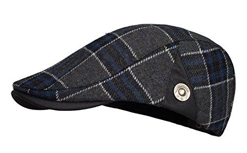 Kuyou Herren Gatsby Mütze Flat Cap Schiebermütze Ivy Kapppe Hüte (Blau)