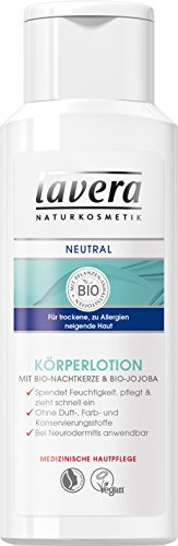 lavera Neutral Körper Lotion ∙ Trockene zu Allergien neigende Haut  ∙ Bio Nachtkerze & Jojoba ∙ Bei Neurodermitis anwendbar ∙ vegan...
