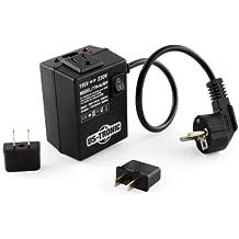 Transformador 110 220 voltios reversible - potencia : continua 45/pico 80 vatios