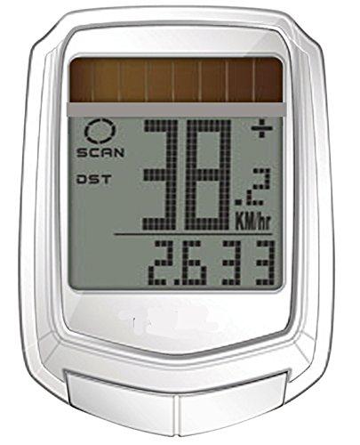 Zeit-Bar SOLAR-Bikecomputer KABELLOS, 17 Funktionen