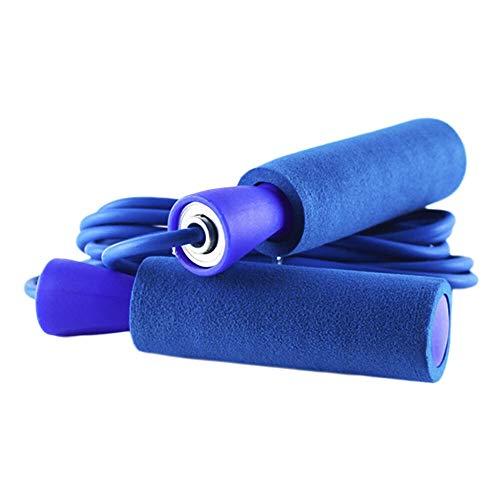 Haimoo Gym Aerobic-Übungen Boxen Springseil Einstellbare Lagergeschwindigkeit Fitness (Color : Blue) -