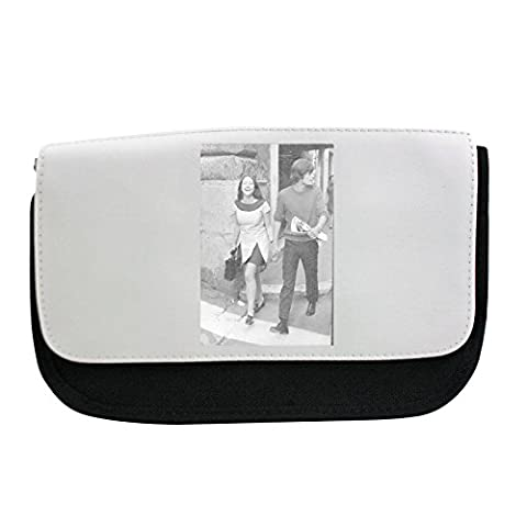 Pencil case with Olivia Hussey laughing, walking with Leonard Whiting.