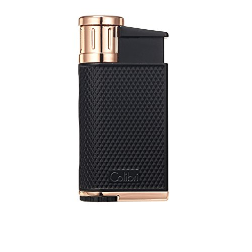 Colibri Evo Single Jet Flame schwarz & Rose Wind beständig nachfüllbar Zigarre Feuerzeug - Feuerzeug Und Zigarren-cutter