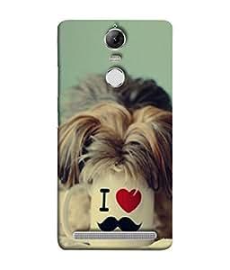 FUSON Designer Back Case Cover for Lenovo K5 Note :: Lenovo Vibe K5 Note Pro (Dog Baby Coffee Breakfast Tea Best Morning Loyal )