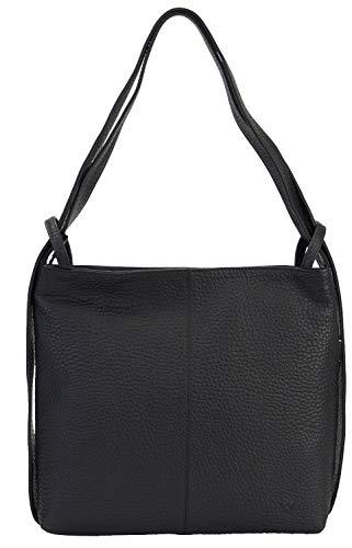 VOi Leather Design VOi Rucksack 21918 Rindsleder Damen: Farbe: Schwarz