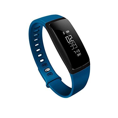 KOBWA Tracker D'activité, Fitness Tracker Montre avec Moniteur de Tension Artérielle Podomètre Sommeil Fréquence Cardiaque Calories Etanche IP67 Bluetooth V4.0 Smart Bracelet Sport Connecté pour Smart...