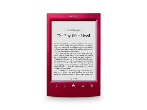 Sony Reader (PRS-T2/RC). Rot: Leichter E-Book Reader mit IR Touchscreen, W-LAN, integrierten E-Book. Größe: 110 x 173 x 9,1 mm