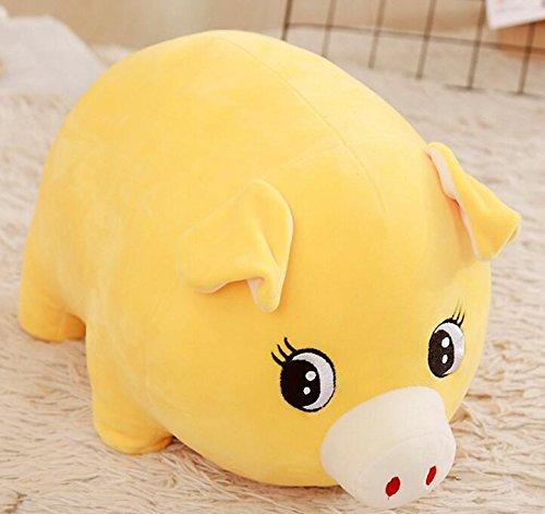 (EoamIk Niedliche Stofftiere Baby Weiche 15 cm Plüsch Schwein Spielzeug Gefüllte Animierte Schwein Tier Puppe für Kinder Geschenk Raumdekoration (gelb))