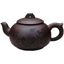 Chinesisch Yixing Handgemachtes Zisha Lila Lehm Teekanne-Chunmanyu