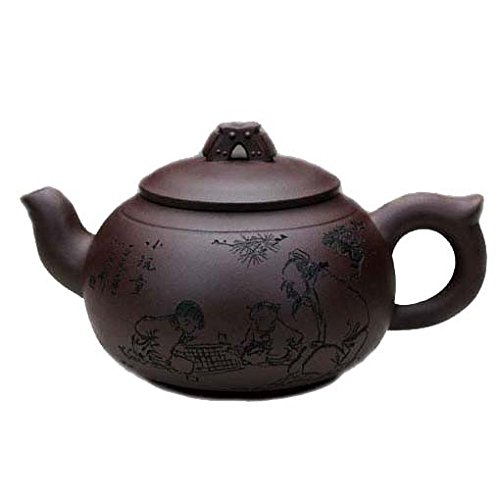 Yixing fatto a mano cinese Yixing viola argilla Teiera-Chunmanyu-Zini-500cc