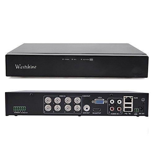 Westshine 8 Kanal 1080P Digitaler Videorekorder NVR DVR H. 264 CCTV Motion Detection E-Mail Sicherheitsalarm P2P Cloud für Sicherheit Überwachung Kamera (überwachung Kamera Rekorder)