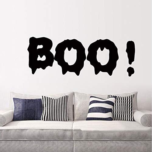 Ljtao Boo Halloween Süßes Oder Saures Spaß Scary Wall Art Sticker Aufkleber