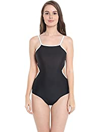 Nidhi Munim Women's Black Cutout Swimsuit With Cut Out Detail On The Sides