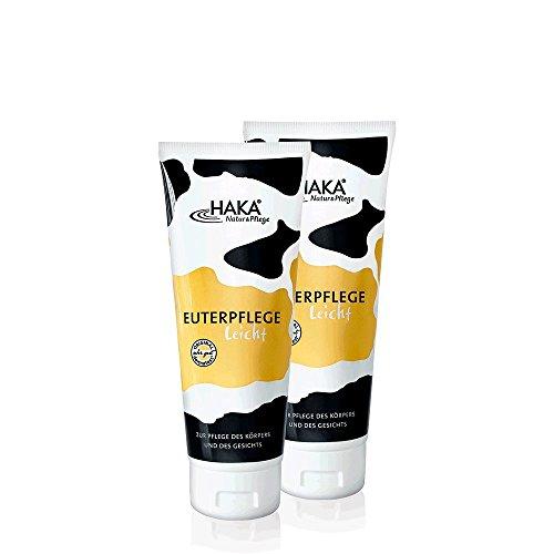 HAKA Euterpflege leicht I 2x200 ml Feuchtigkeitscreme für raue, strapazierte Haut I Sanfte Pflegecreme für trockene Hände und...