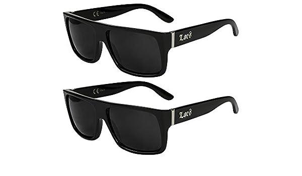 X-CRUZE/® 2er Pack Locs 9006 X 05 Sonnenbrillen Motorradbrille Sportbrille Radbrille in der Farbe Schwarz