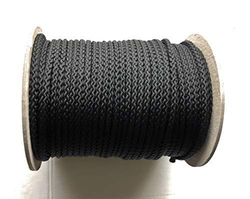 Viva Nature 50m Rolle 5 mm \Polypropylen-Seil PP-Seil \ Flechtleine Reepschnur Tau-Werk Festmacher Schnur Kordel (schwarz) -