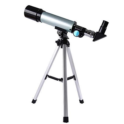 GuoYq Teleskop FüR Kinder, Refraktorteleskop FüR Die Astronomie Mit 50 Mm Blende Und 360 Mm Brennweite, Verstellbares Stativ FüR Astronomie-AnfäNger FüR Sternbeobachtung