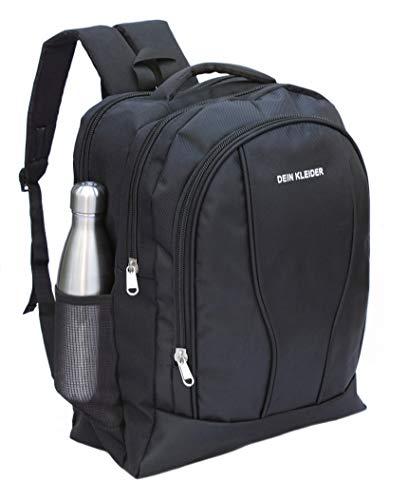 DEIN KLEIDER Unisex 40 L Large Capacity Casual/School/Laptop Backpack (Black) Image 9