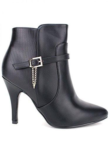 Cendriyon, Bottine noire CHICISSIME Chaussures Femme Noir