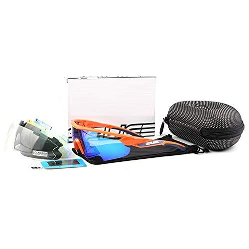 ANSKT Polarized Sports Sonnenbrille mit 5 Wechselgläsern UV400-Schutz-Sportbrille, Unisex 4