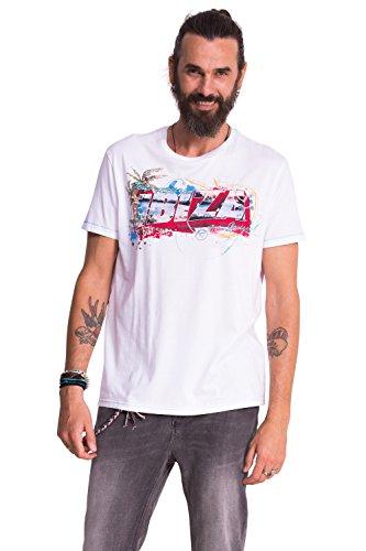 Desigual -  T-shirt - Maniche corte  - Uomo bianco Large