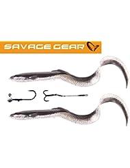 LEURRE SAVAGEAR2 SG LB Real Eel 20cm 27g+5g 11-Dirty Silver NL 2+2pcs