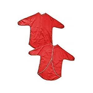 Children's Waterproof Play Aprons - Painting, Baking, Cooking - Red 60cm Age 2-4 Years - Paint and Play Today