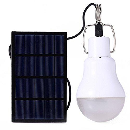 Kompassswc Outdoor Solarlampe 130LM 15W Camping Zeltlampe LED Birne Solarleuchte mit Schalter und 800mAh Solar-Panel
