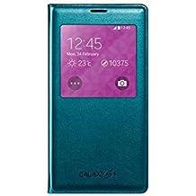 Samsung S-View - Funda para móvil Galaxy S5 (Inteligente, permite controlar funciones como la cámara, las notificaciones o las llamadas entrantes, impermeable), color verde