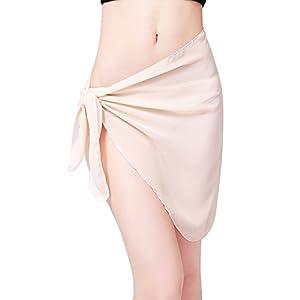 Involucro da bagno bikini con copertura in bikini in chiffon sexy di Sarong stampato da donna 2 spesavip