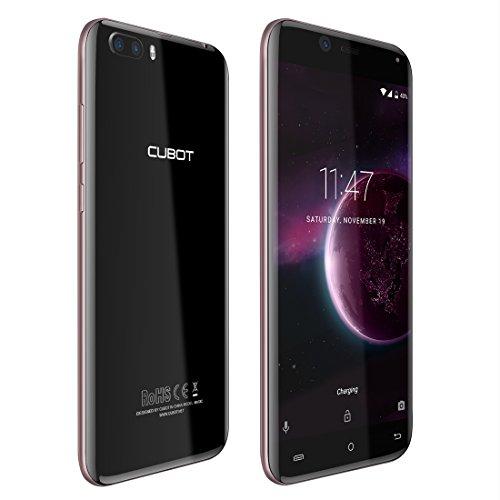 Cubot Magic 4G Smartphone Ohne Vertrag ( Andriod 7.0, 5.0 Zoll (12,7cm) Touch-Display Handy mit Rear Dual Kameras (13MP+2MP), 3GB RAM 16GB Speicher, Unterstützung 128G TF-Karte Expansion) Gold Schwarz