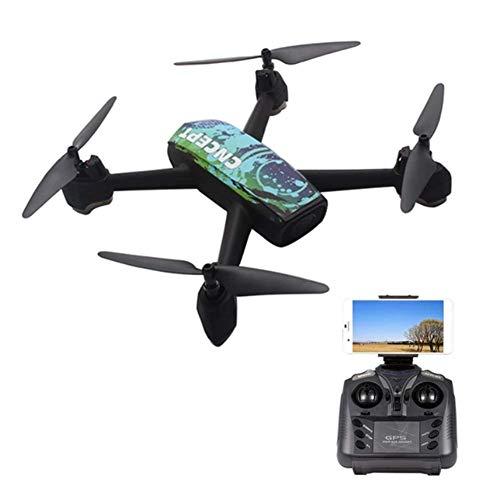 DHHZRKJ 2.4G 720P Remote-Drohne mit Kamera WiFi FPV GPS Positionierungshöhe, um RC vierachsige Flugzeuge LED-Licht ferngesteuerten Hubschrauber zu halten