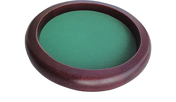 Durchmesser 34 cm Würfelteller Holz braun