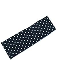 C.S COLLECTION White Polka Dot Headband Stretch Elastic Yoga Soft And Stretchy Sports Sweatbands Fashion Headband...