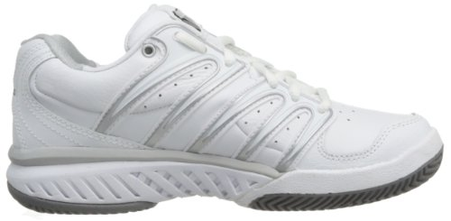 K-Swiss - BIG SHOT LEATHER, Scarpe da tennis Donna Weiß (White / Silver / Black  115)