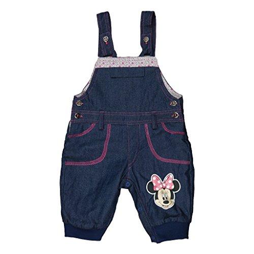 Mädchen BABY-HOSE / JEANS-LATZHOSE GEFÜTTERT Minnie Mouse mit Motiv, GRÖSSE 62, 68, 74, 80, 86, 92, 98, SPIEL-HOSE mit Knöpfen, als Freizeit-Hose, Jogging-Hose, weich und warm Color Grau, Size 80 (Passform-jeans-latzhose)