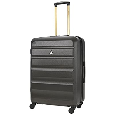 """Aerolite Medium 25"""" Super Lightweight ABS Hard Shell Travel Hold Check In Luggage Suitcase with 4 Wheels"""