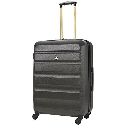 Trolley Aerolite ABS - Bagaglio da stiva - Valigia rigida e leggera con 4 Ruote - altezza: 69cm; capienza: 84L - Grigio Carbone