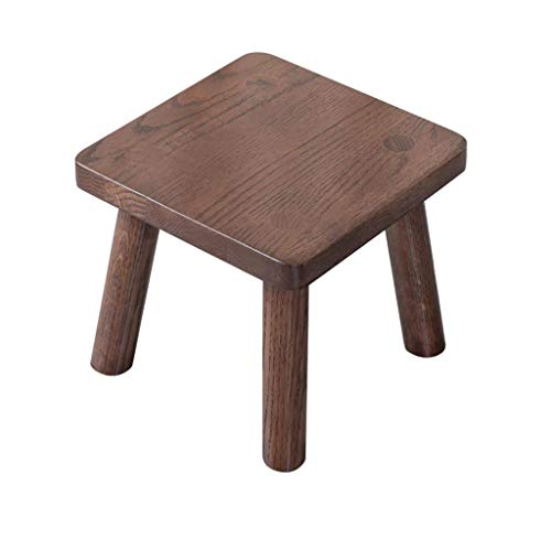 SCDTD Antique Revival Wood Tritthocker/Akzent aus Mahagoni In Chic Leicht Distressed Finish (Square Seat, for den Heimgebrauch) (Color : B) -