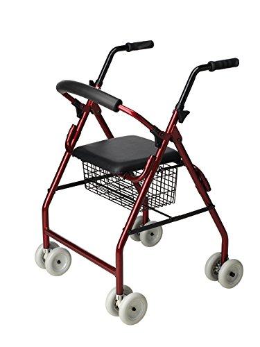 Andador 4 ruedas -Andador ancianos asiento - Rollator