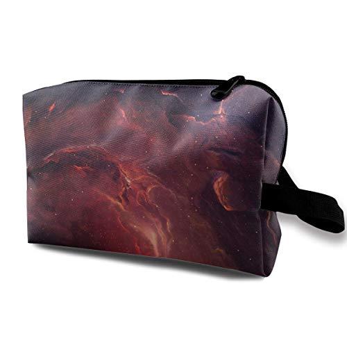 Women's Red Nebula Funny Logo Travel Hanging Toiletry Bag Portable Travel Kit Shaving Bathroom Storage Bag Cosmetic Organize